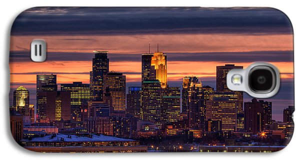 Paul Galaxy S4 Cases - Minneapolis Skyline Galaxy S4 Case by Shawn Everhart