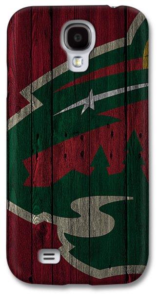 Minnesota Wild Wood Fence Galaxy S4 Case by Joe Hamilton