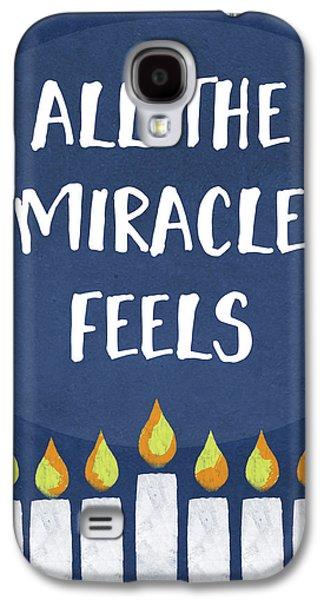 Miracle Feels- Hanukkah Art By Linda Woods Galaxy S4 Case