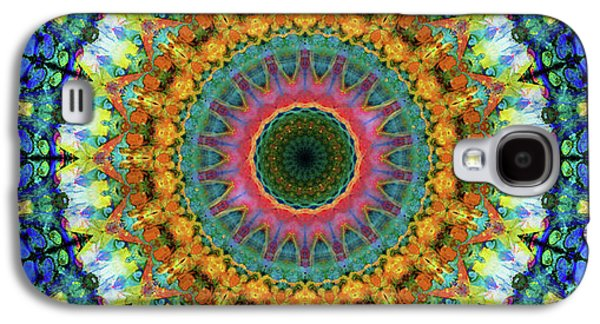 Miracle Mandala Art By Sharon Cummings Galaxy S4 Case by Sharon Cummings