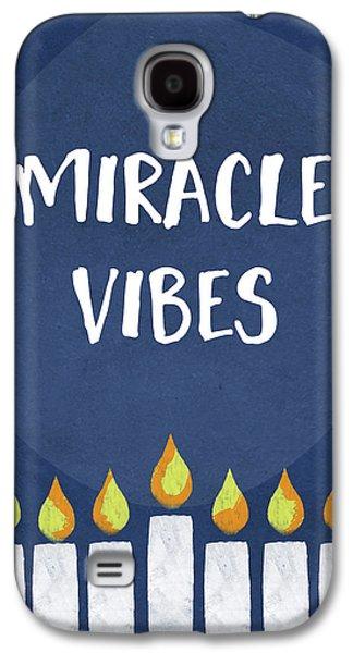 Miracle Vibes- Hanukkah Art By Linda Woods Galaxy S4 Case