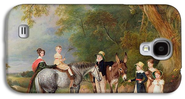 Miss Catherine Herrick With Her Nieces And Nephews Galaxy S4 Case by John E Ferneley