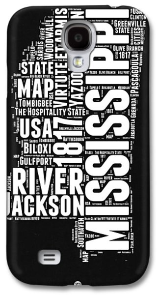 Mississippi Black And White Map Galaxy S4 Case