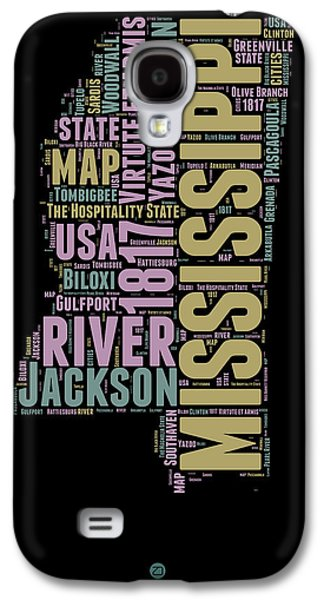 Mississippi Word Cloud 1 Galaxy S4 Case by Naxart Studio