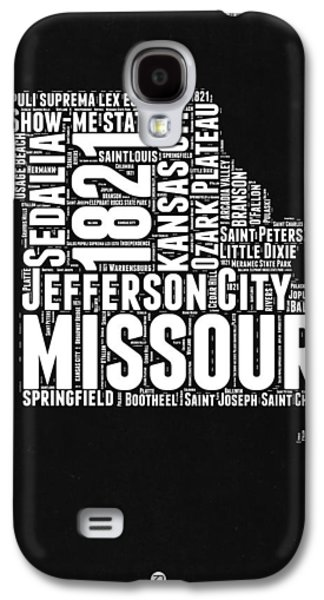 Missouri Black And White Word Cloud Map Galaxy S4 Case