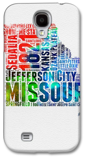 Missouri Watercolor Word Cloud Map  Galaxy S4 Case