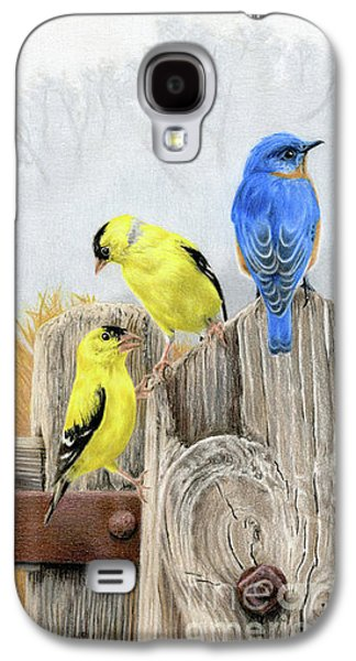 Finch Galaxy S4 Case - Misty Morning Meadow by Sarah Batalka