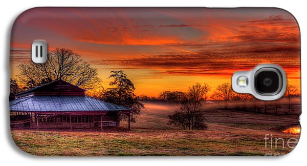 Misty Morning Sunrise Walker Church Road Galaxy S4 Case