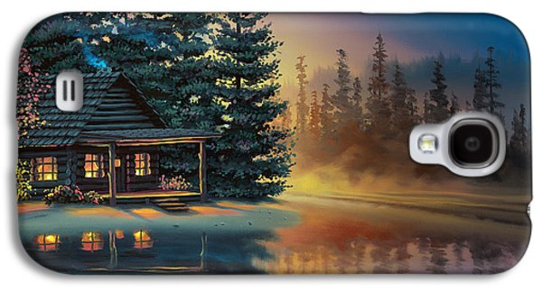Galaxy S4 Case featuring the painting Misty Refection by Al Hogue