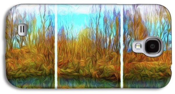 Misty River Vistas - Triptych Galaxy S4 Case
