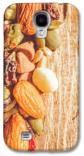 Mixed Nuts On Wooden Background Galaxy S4 Case