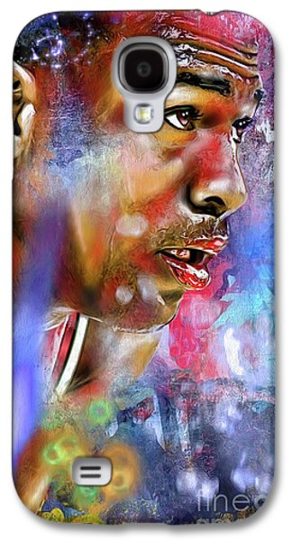 Mj Painted Galaxy S4 Case by Daniel Janda