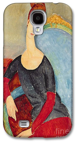 Mme Hebuterne In A Blue Chair Galaxy S4 Case by Amedeo Modigliani