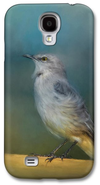 Mockingbird On A Windy Day Galaxy S4 Case by Jai Johnson