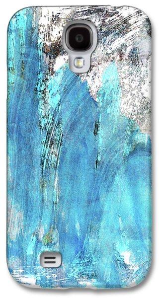 Modern Abstract Art - Blue Essence - Sharon Cummings Galaxy S4 Case