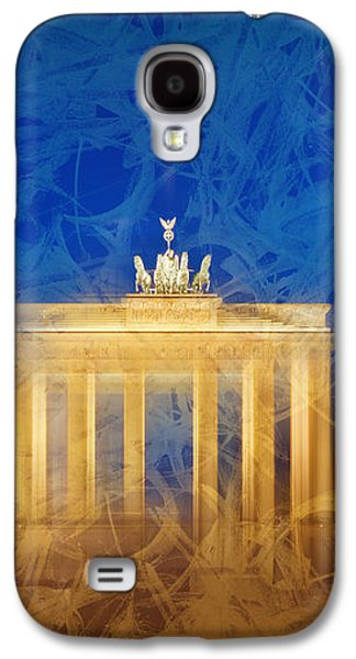 Modern Art Berlin Brandenburg Gate Galaxy S4 Case by Melanie Viola