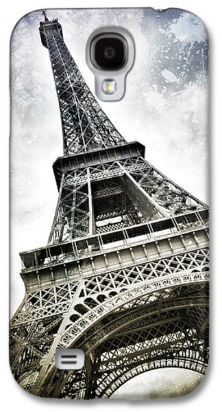 Modern-art Paris Eiffel Tower Splashes Galaxy S4 Case by Melanie Viola