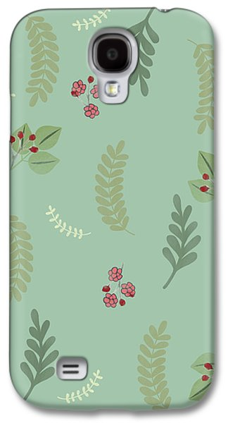 Modern Botanical Study Pattern, Spring And Summer Galaxy S4 Case