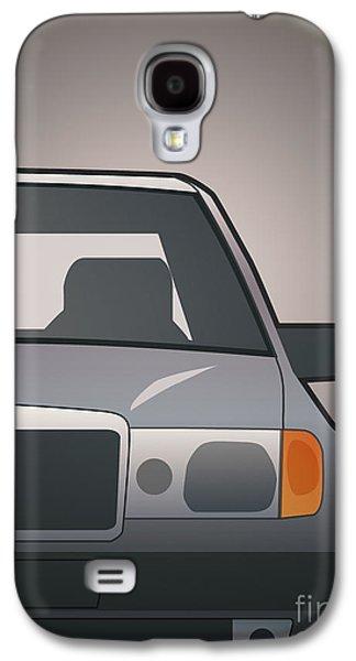 Modern Euro Icons Series Mercedes Benz W124 500e Split  Galaxy S4 Case by Monkey Crisis On Mars