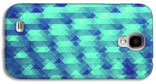 Modern Fashion Abstract Color Pattern In Blue   Green Galaxy S4 Case