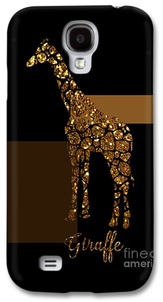 Modern Gilt Giraffe, Gold Black Brown Galaxy S4 Case