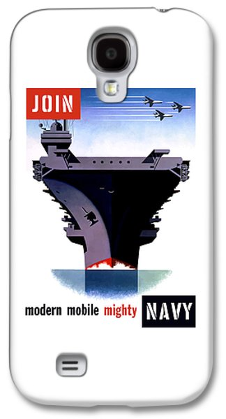 Modern Mobile Mighty Navy Galaxy S4 Case by War Is Hell Store