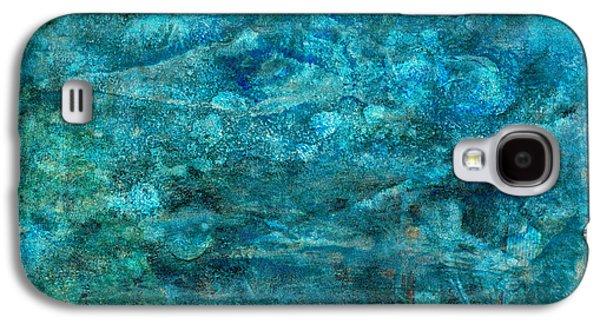 Modern Turquoise Art - Deep Mystery - Sharon Cummings Galaxy S4 Case by Sharon Cummings