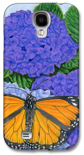 Monarch Butterflies And Hydrangeas Galaxy S4 Case by Sarah Batalka