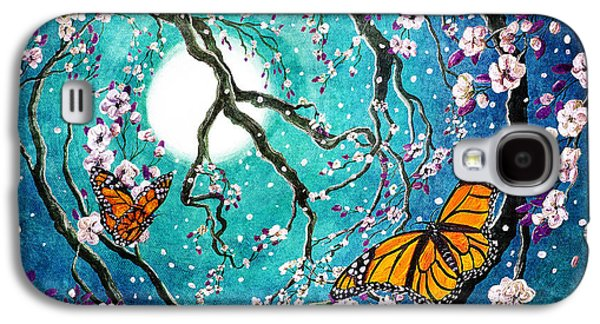 Monarch Butterflies In Teal Moonlight Galaxy S4 Case