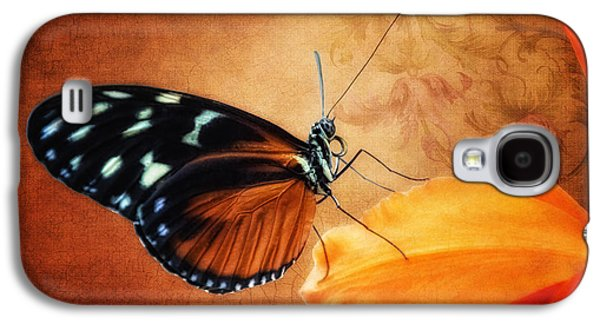 Orchid Galaxy S4 Case - Monarch Butterfly On An Orchid Petal by Tom Mc Nemar