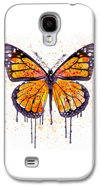 Monarch Butterfly Watercolor Galaxy S4 Case by Marian Voicu