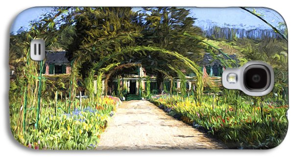 Monet House And Spring Garden In Giverny Galaxy S4 Case by David Smith