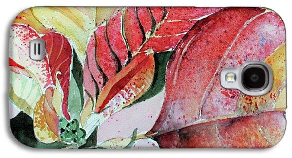 Monet Poinsettia Galaxy S4 Case by Mindy Newman