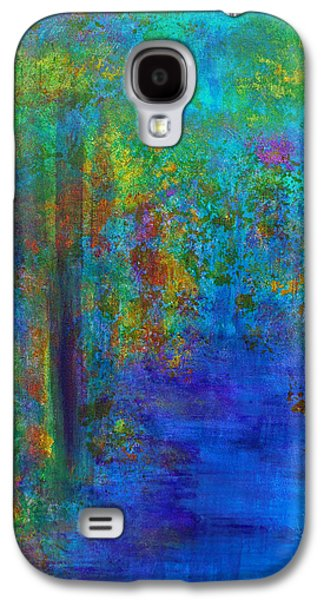 Galaxy S4 Case featuring the painting Monet Woods by Claire Bull