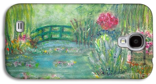 Waterscape Pastels Galaxy S4 Cases - Monets Garden Galaxy S4 Case by Sandra McClure