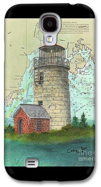 Monhegan Island Lighthouse Nautical Chart Map Maine Galaxy S4 Case