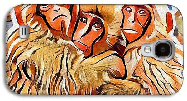 Monkey Selfie Galaxy S4 Case by Yury Malkov