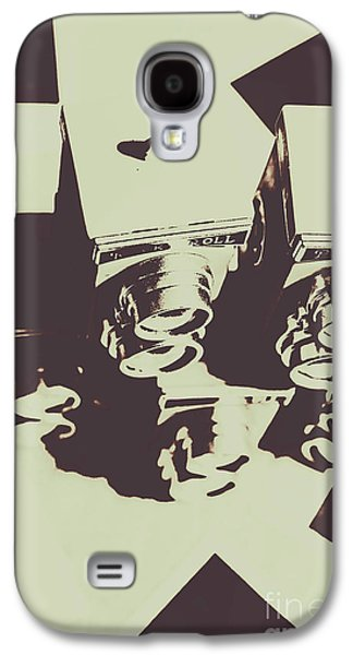 Monochromatic Antique Cameras And Photos Galaxy S4 Case by Jorgo Photography - Wall Art Gallery