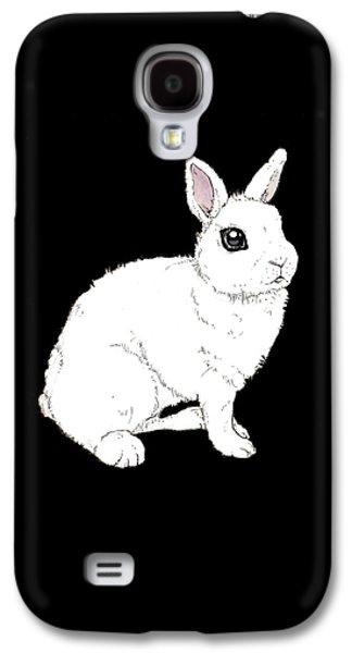 Monochrome Rabbit Galaxy S4 Case by Katrina Davis