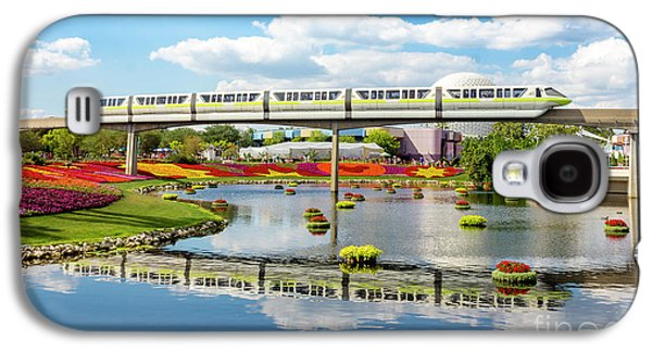 Monorail Cruise Over The Flower Garden. Galaxy S4 Case