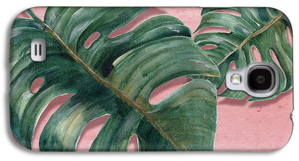 Monstera Leaf  Galaxy S4 Case by Mark Ashkenazi