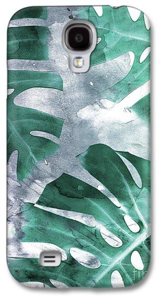 Monstera Theme 1 Galaxy S4 Case by Emanuela Carratoni