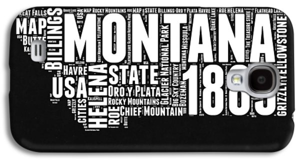 Montana Black And White Map Galaxy S4 Case