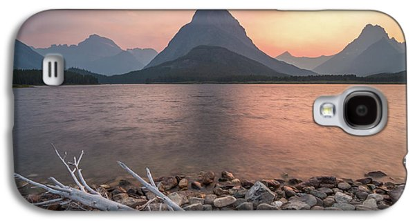 Montana Gold // Swiftcurrent Lake, Glacier National Park  Galaxy S4 Case by Nicholas Parker