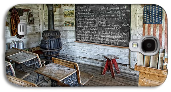 School Houses Galaxy S4 Cases - Montana School Lesson August 29 1864 Galaxy S4 Case by Daniel Hagerman