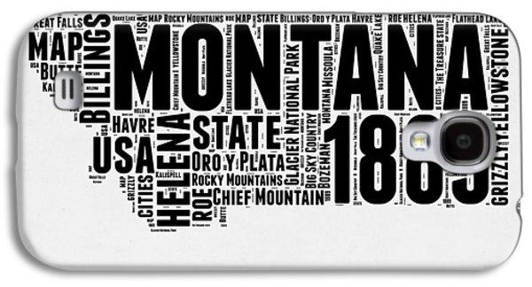 Montana Word Cloud 2 Galaxy S4 Case by Naxart Studio