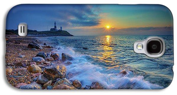 Morning Photographs Galaxy S4 Cases - Montauk Sunrise Galaxy S4 Case by Rick Berk