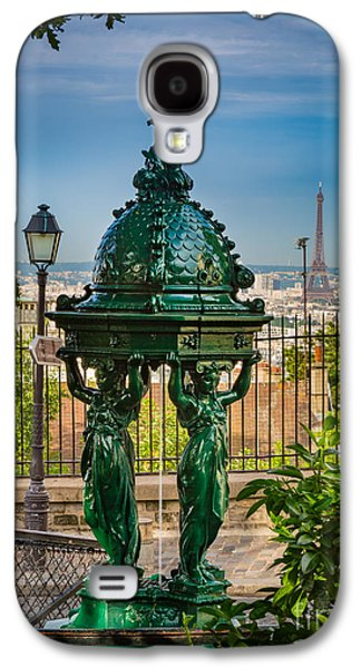 Montmartre Wallace Fountain Galaxy S4 Case by Inge Johnsson