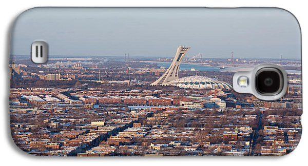 Montreal Cityscape With Olympic Stadium Galaxy S4 Case by Jane Rix