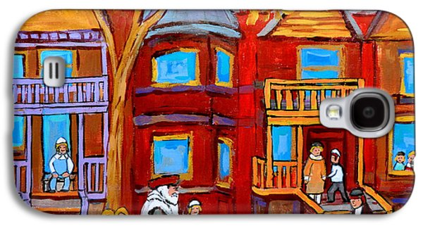 Montreal Memories Of Zaida And The Family Galaxy S4 Case by Carole Spandau